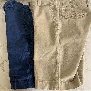 Boys Gap Shorts Navy & Khaki sz 8